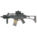 G36C with silencer, red dot sight and tactical grip