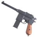 Mauser C96 airsoft vienašūvis pistoletas su 2 dėtuvėm