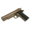 Spyruoklinis pistoletas COLT M1911 A1 TAN metaline spyna