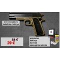 Liko tik 1! Colt M1911 vienašūvio rinkinys - pistoletas, taikinys, šoviniai, akiniai