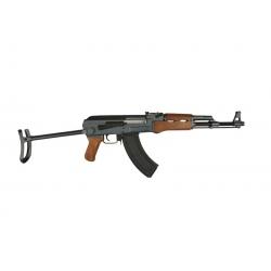 Galingas metalinis airsoft automatas atlenkiama buože AK47s
