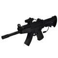 Mini MP5 Electric Airsoft Rifle - Full Auto, With Batteries and Charger, Laser SIght, Protective Glasses