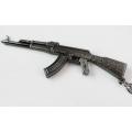 AK-47 Kalašnikovo automato formos raktų pakabukas